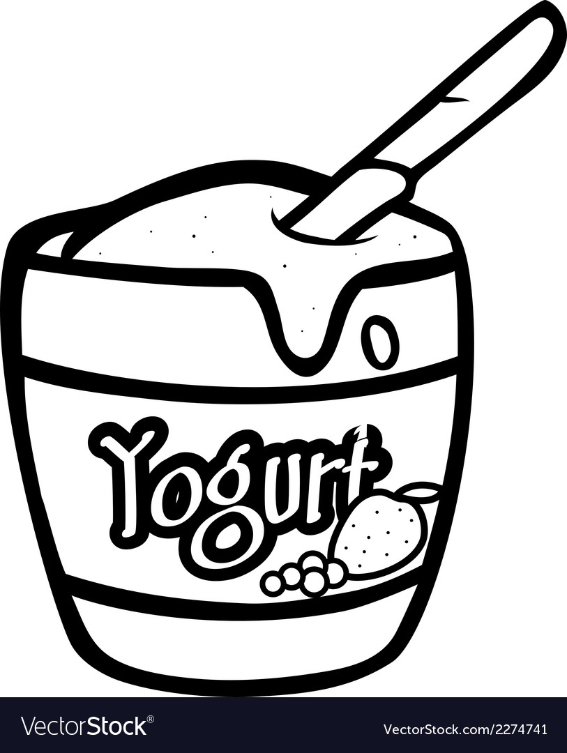 Yogurt bw vector | Price: 1 Credit (USD $1)