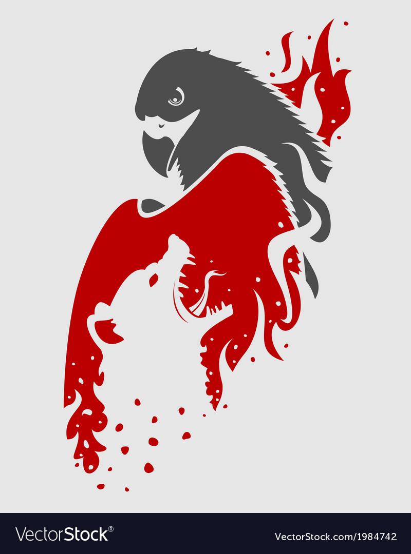 Berkut against hyenas vector   Price: 1 Credit (USD $1)