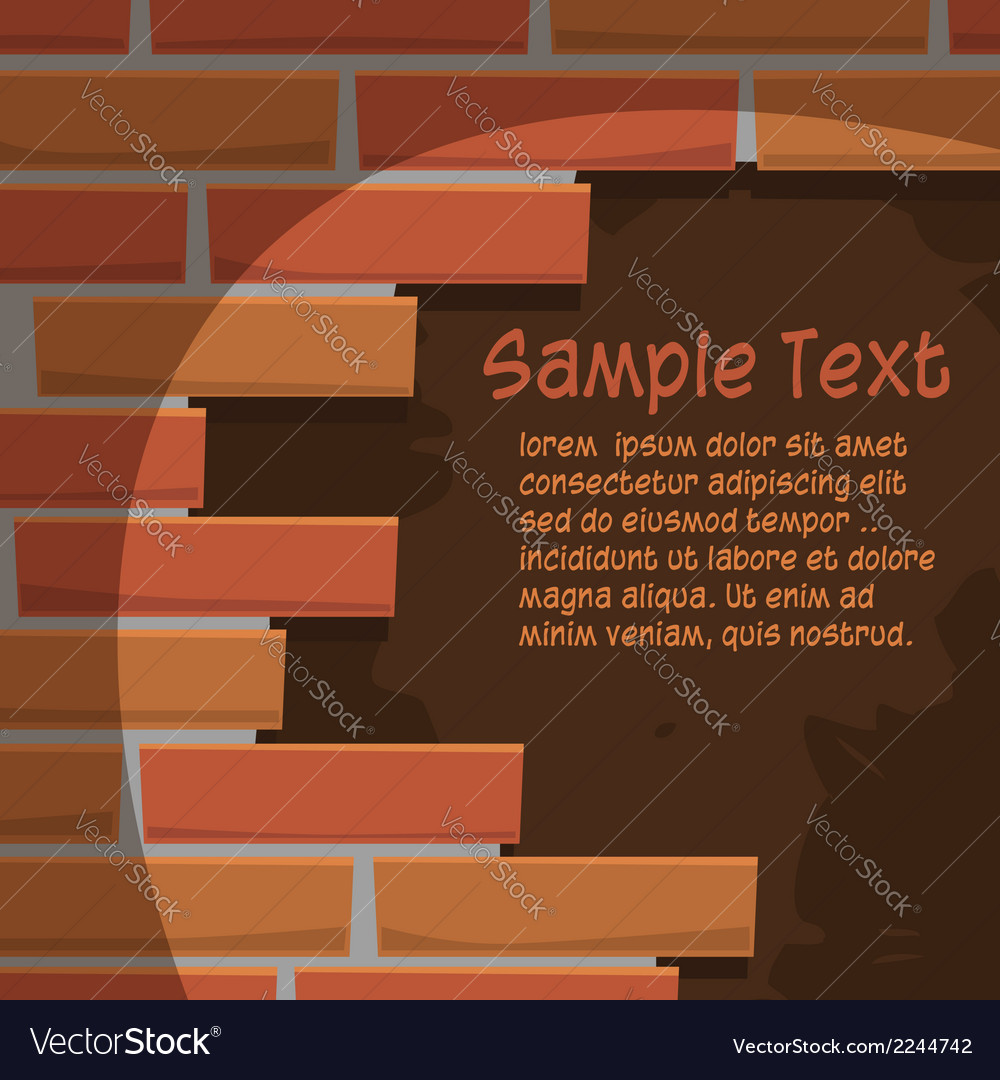 Broken brick wall vector | Price: 1 Credit (USD $1)