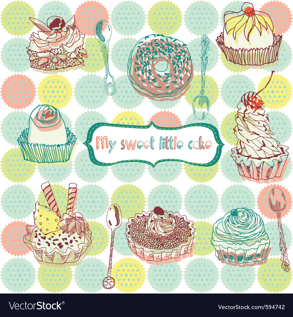 Cake wallpaper vector | Price: 1 Credit (USD $1)