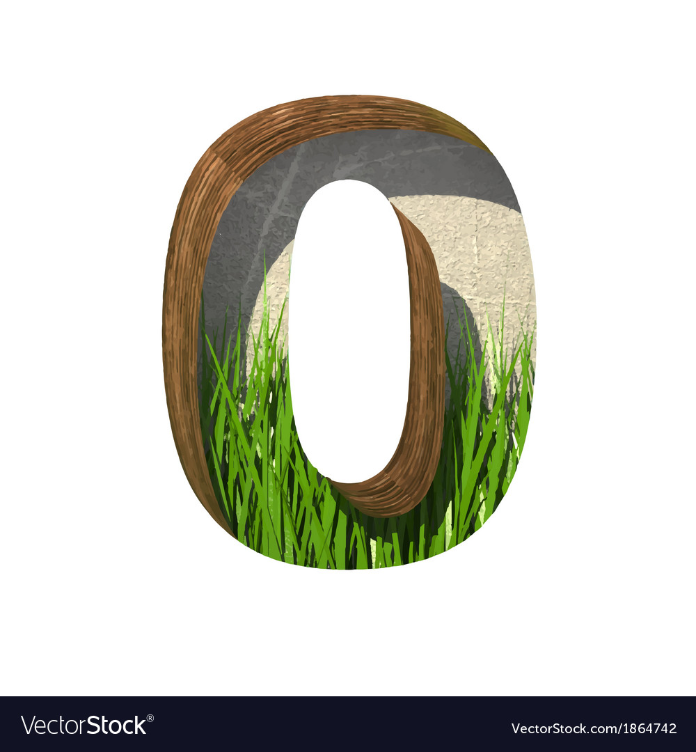 Grass cutted figure 0 paste to any background vector | Price: 1 Credit (USD $1)
