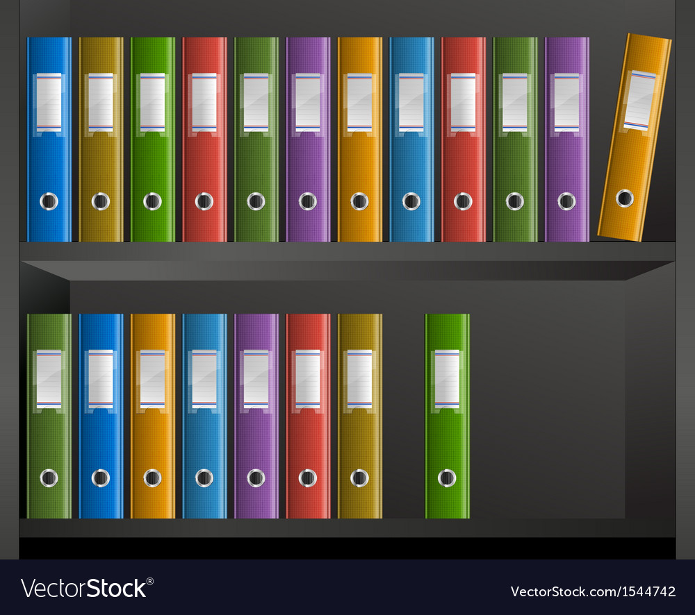 Office files in library vector | Price: 1 Credit (USD $1)