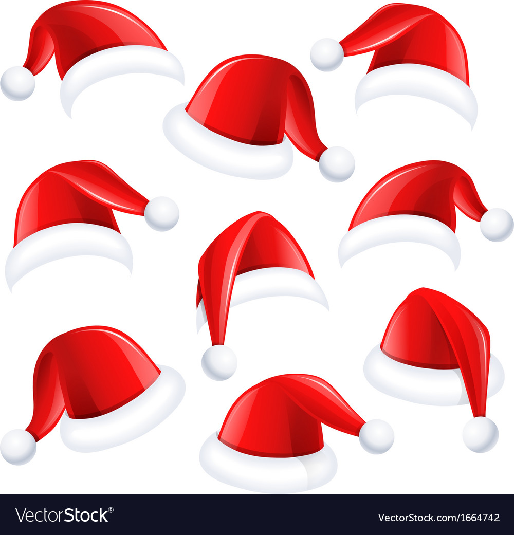 Santa hats vector | Price: 1 Credit (USD $1)