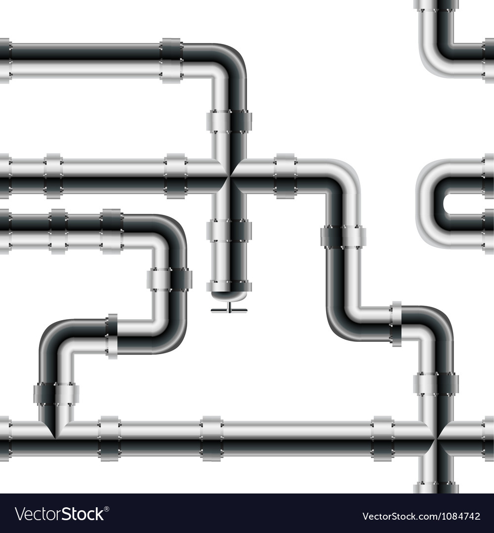 Seamless metal pipe pattern vector | Price: 1 Credit (USD $1)