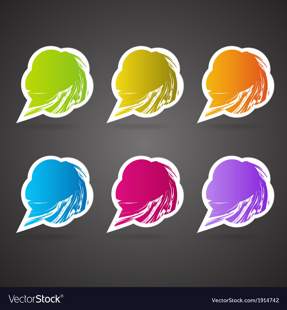 Speech bubbles in the shape of a flower vector | Price: 1 Credit (USD $1)