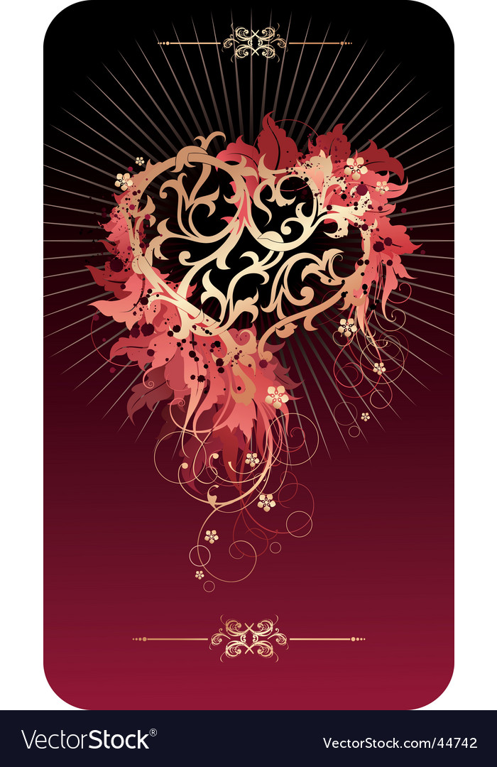 Valentine's postcard vector | Price:  Credit (USD $)