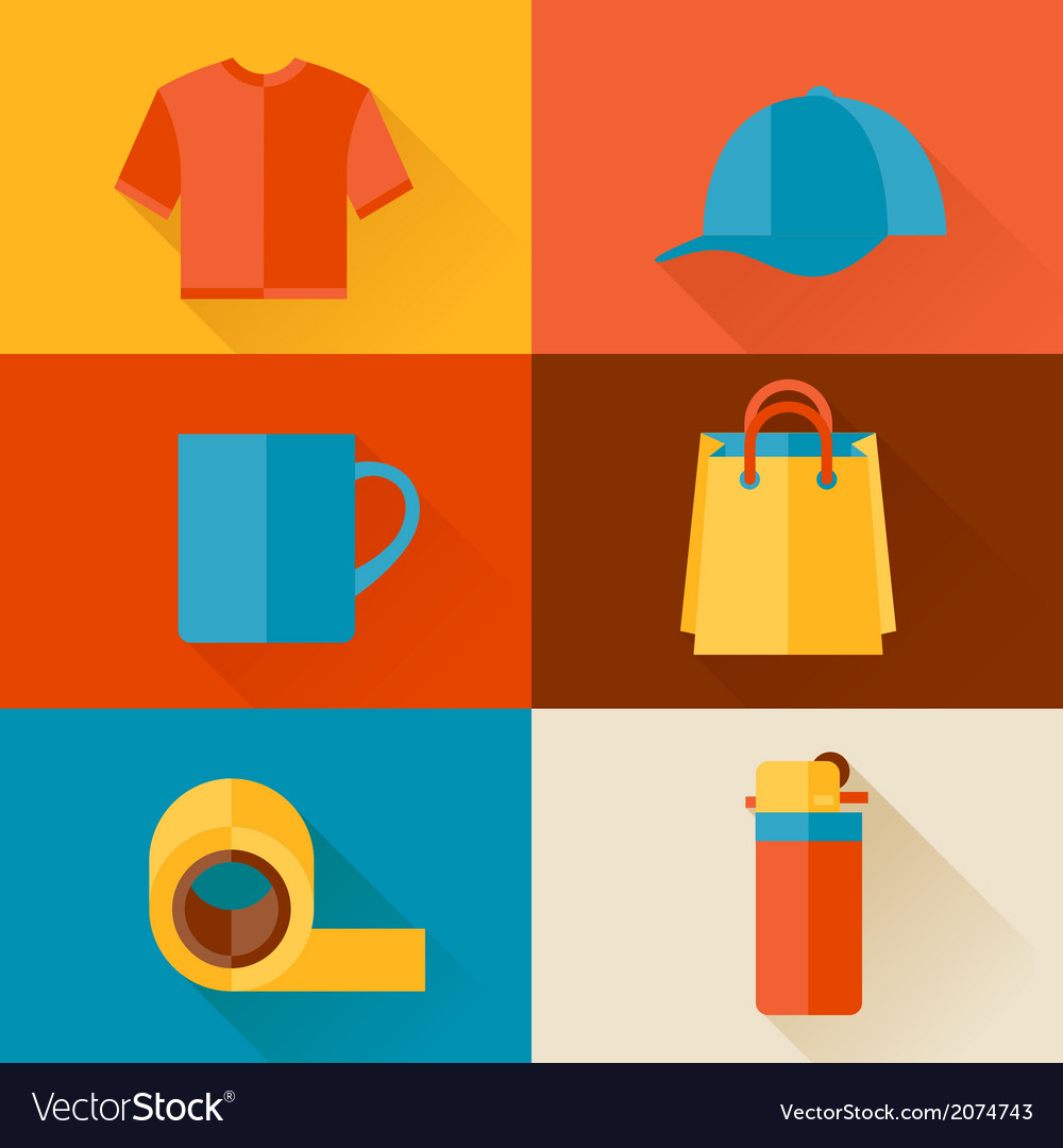 Advertising background with promotional gifts and vector | Price: 1 Credit (USD $1)