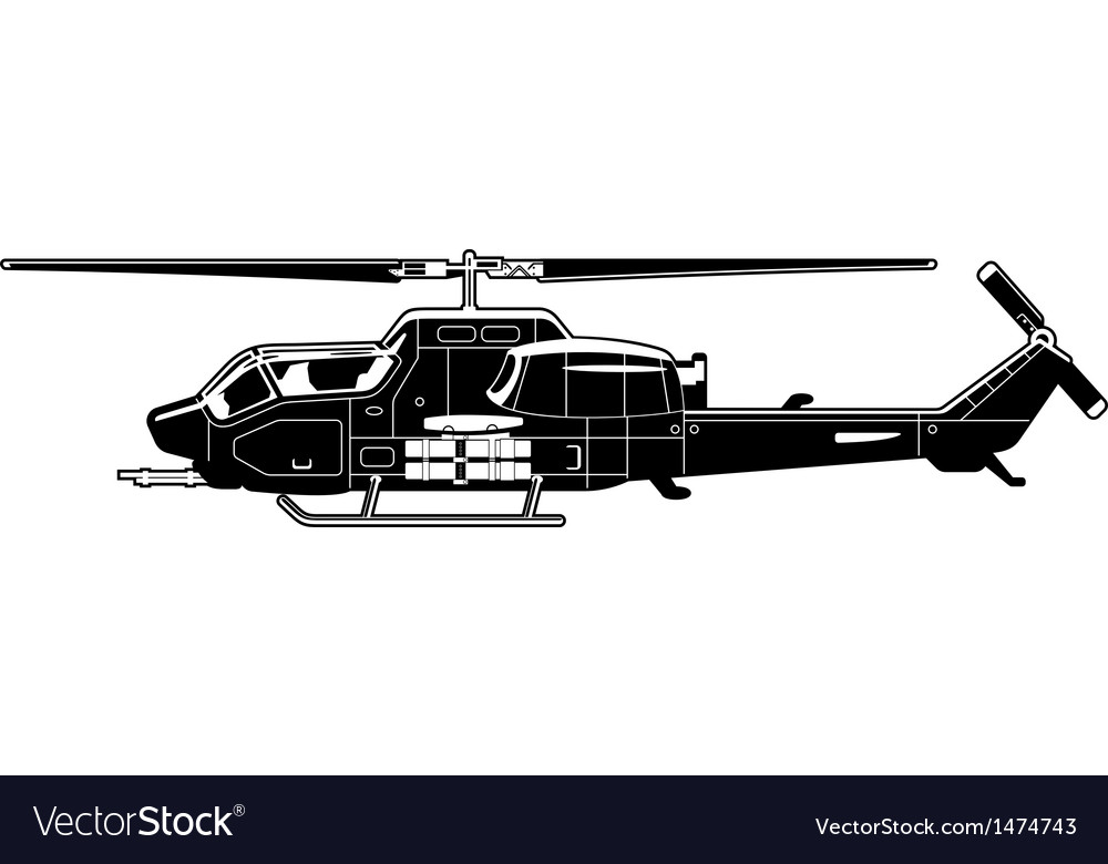 Attack helicopter vector | Price: 1 Credit (USD $1)
