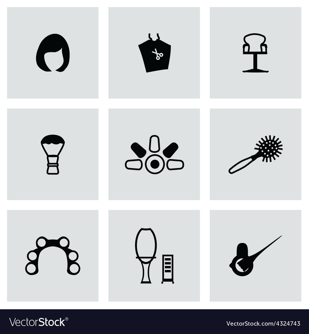 Barber icon set vector | Price: 1 Credit (USD $1)