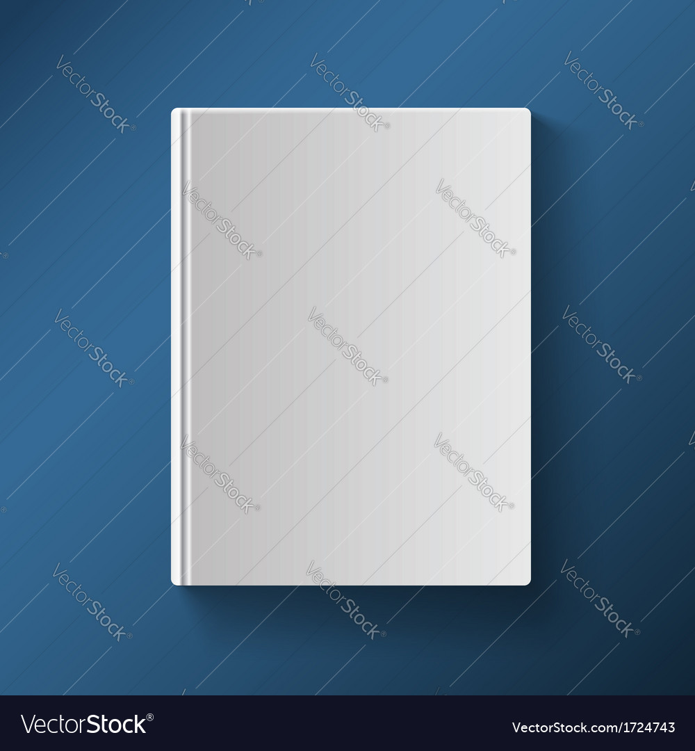 Blank book cover gradient mesh vector | Price: 1 Credit (USD $1)