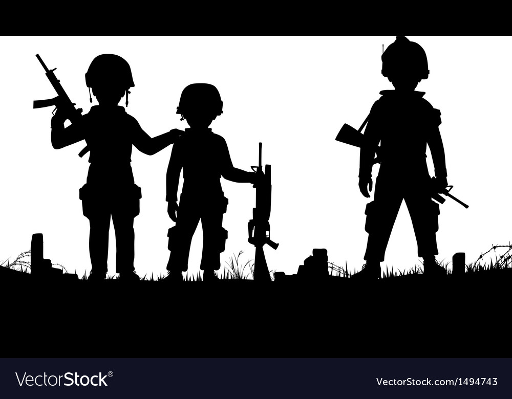 Child soldiers vector | Price: 3 Credit (USD $3)