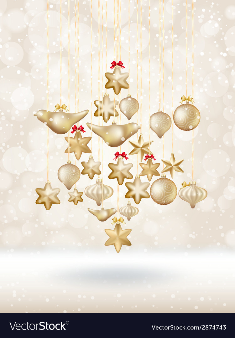 Christmas bokeh poster with tree eps 10 vector | Price: 1 Credit (USD $1)