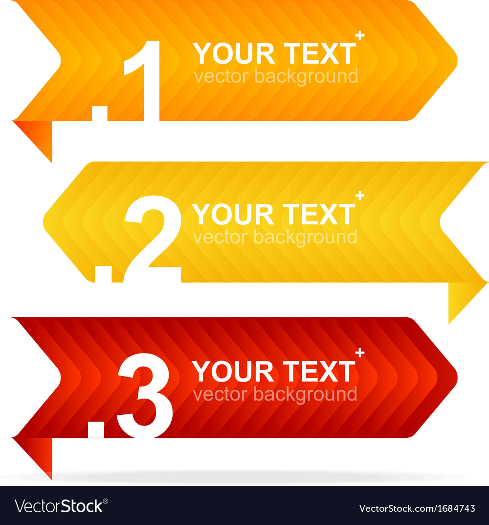 Colorful text box 1234 concept vector | Price: 1 Credit (USD $1)