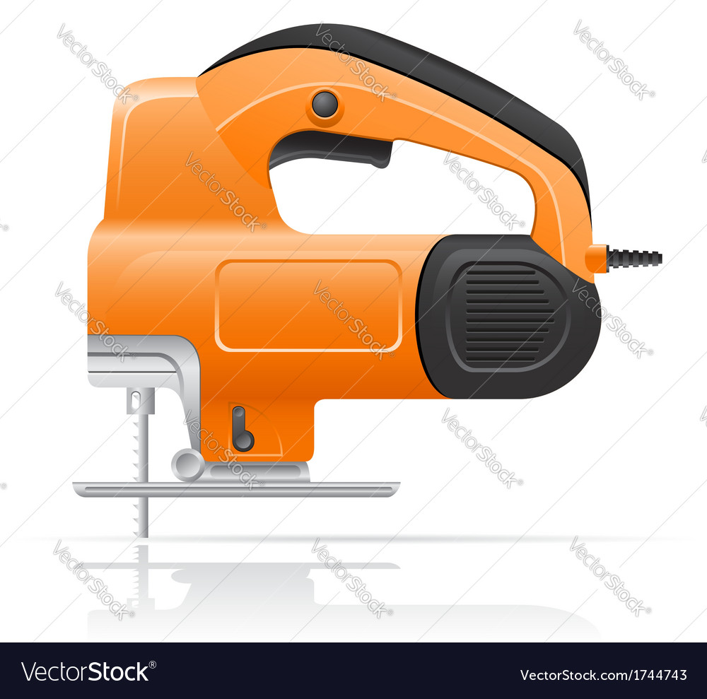 Electric jigsaw vector | Price: 1 Credit (USD $1)