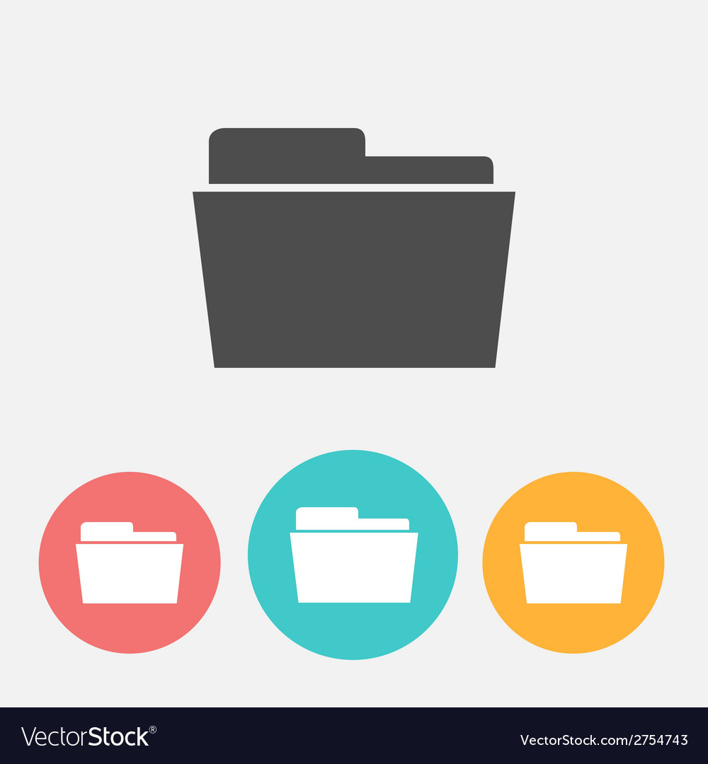 Folder icons vector | Price: 1 Credit (USD $1)