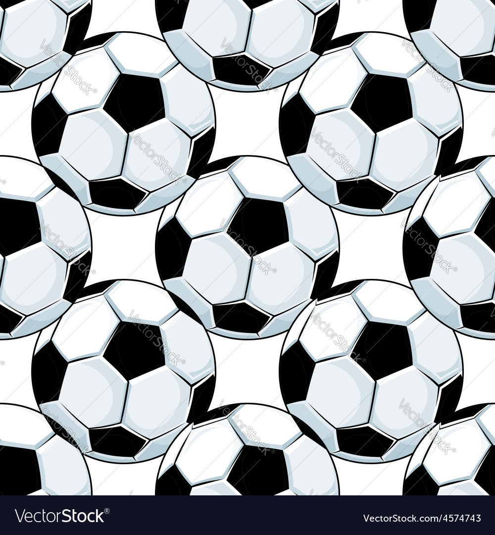 Football or soccer balls seamless pattern vector | Price: 1 Credit (USD $1)
