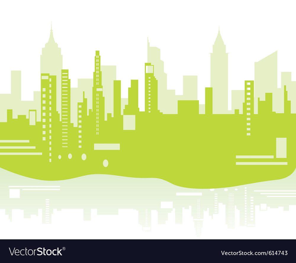 Green city background vector | Price: 1 Credit (USD $1)