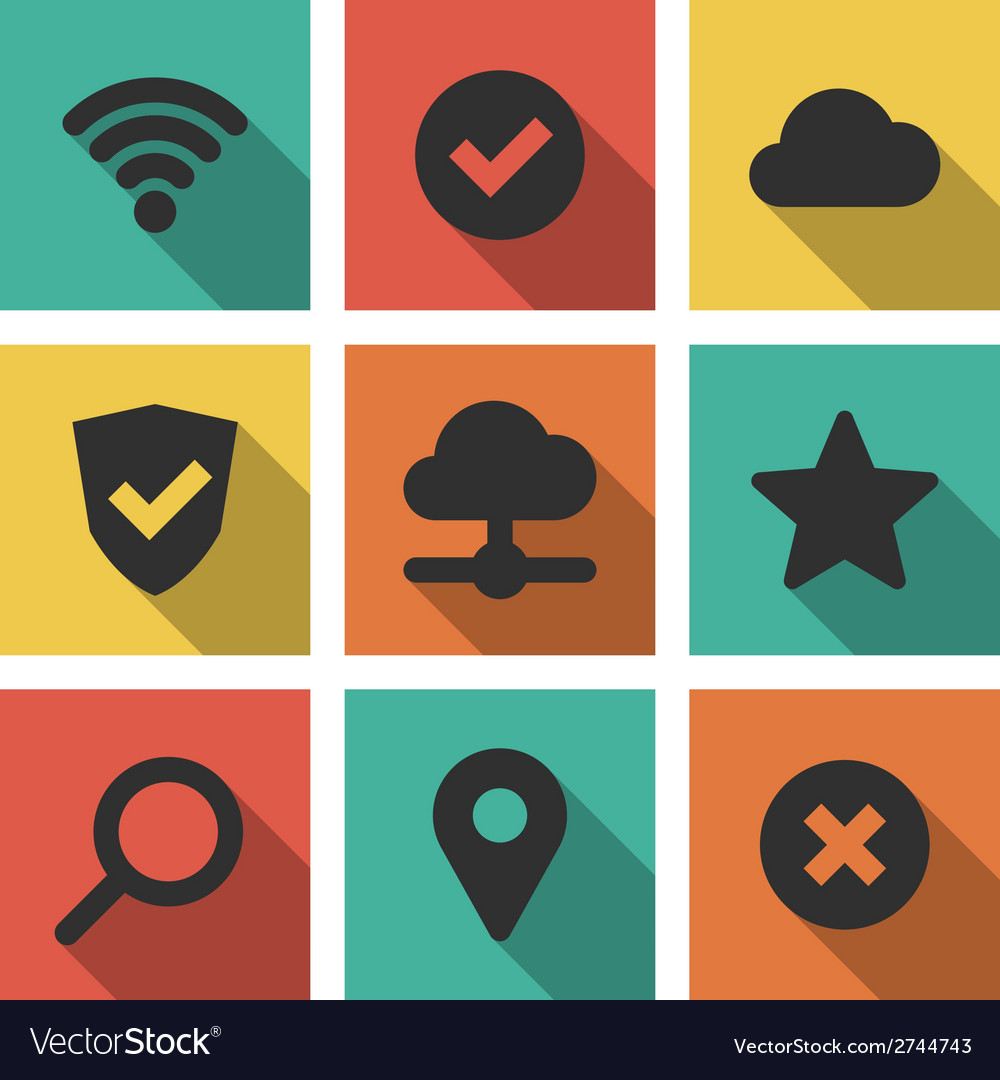 Icons set internet vector | Price: 1 Credit (USD $1)