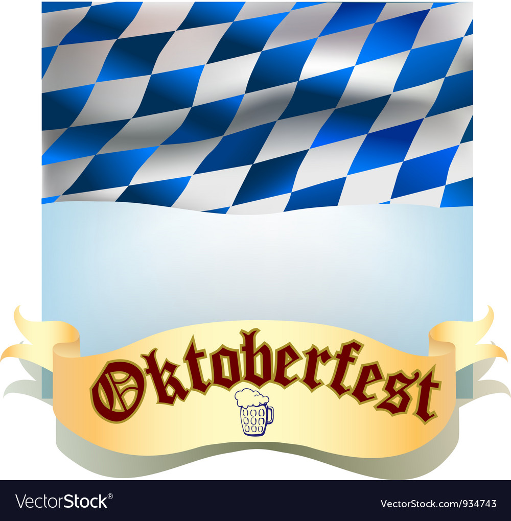 Oktoberfest banner with flag vector | Price: 1 Credit (USD $1)