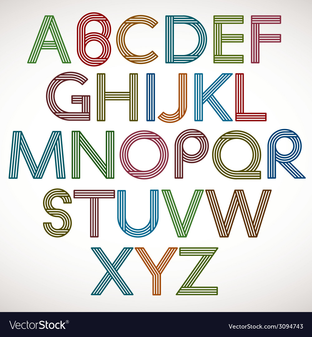 Retro style alphabet vector | Price: 1 Credit (USD $1)