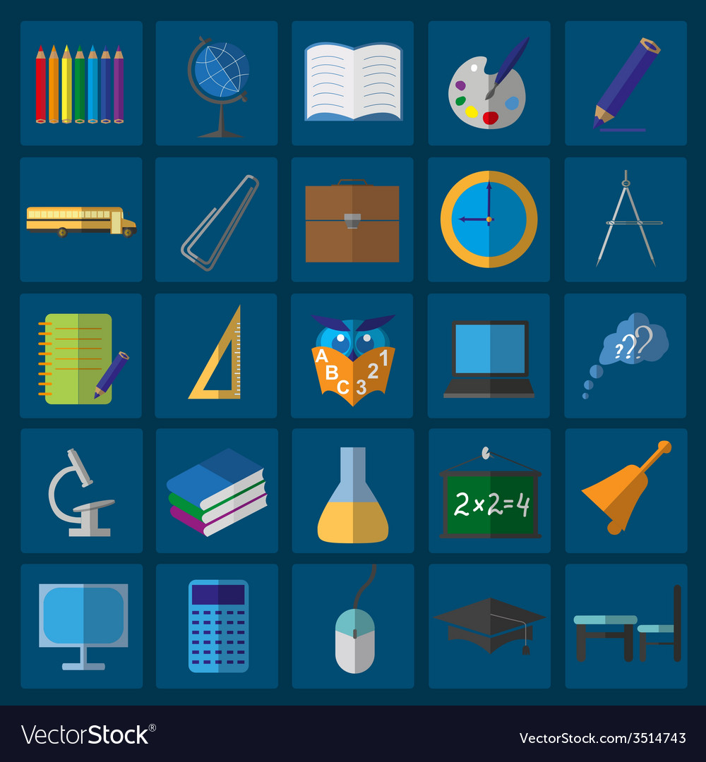 Set education icons vector   Price: 1 Credit (USD $1)