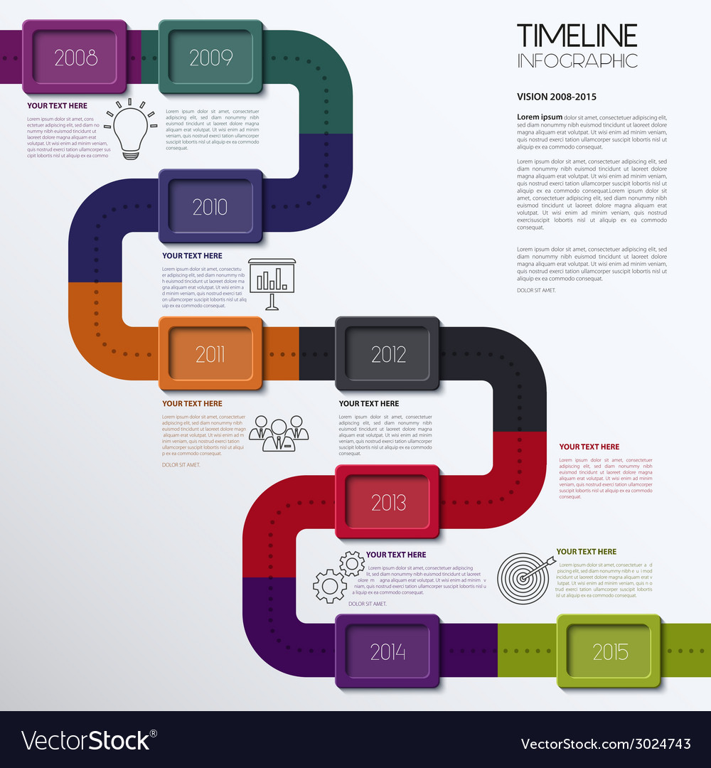 Timeline infographic modern simple design vector | Price: 1 Credit (USD $1)