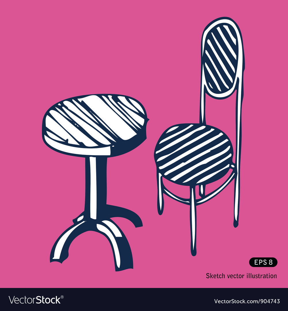 Vintage chair and table vector | Price: 1 Credit (USD $1)