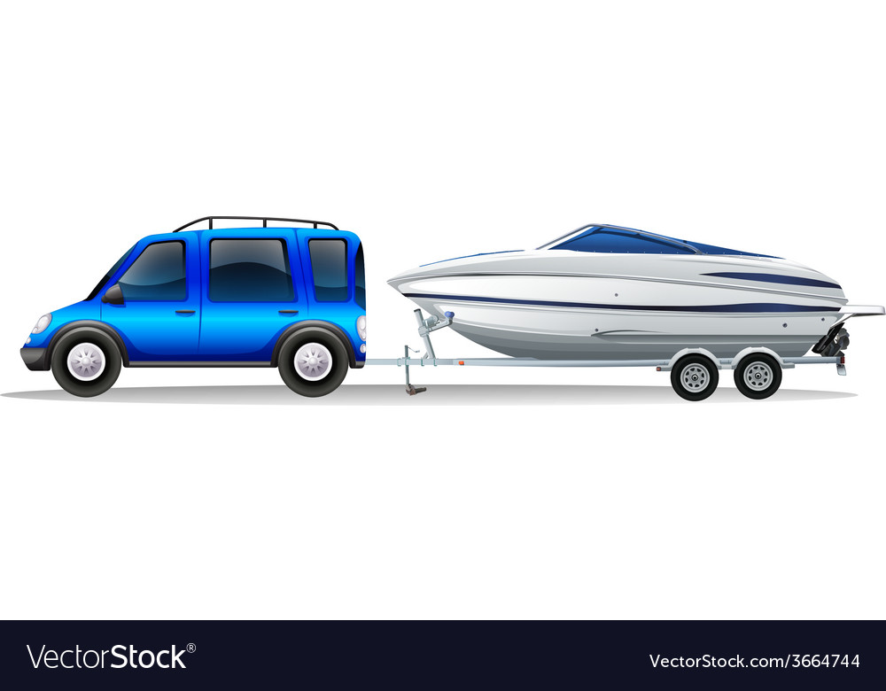 A van and a boat vector   Price: 3 Credit (USD $3)