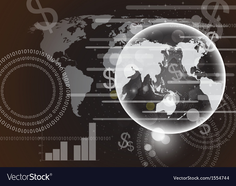 Abstract globe and technology background eps10 vector   Price: 1 Credit (USD $1)