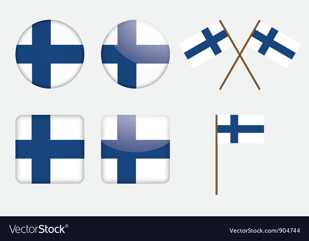 Badges with finland flag vector | Price: 1 Credit (USD $1)