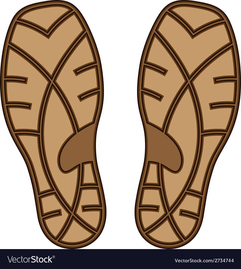 Brown rubber shoe sole vector | Price: 1 Credit (USD $1)