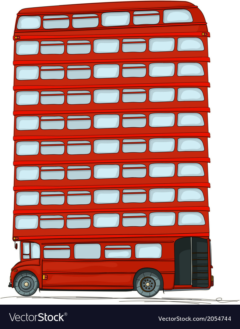 English bus vector | Price: 1 Credit (USD $1)