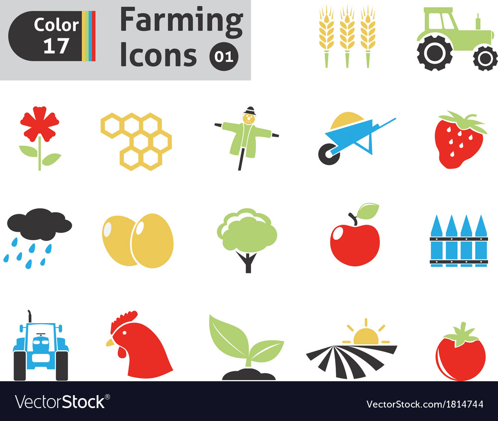 Farming icons vector | Price: 1 Credit (USD $1)