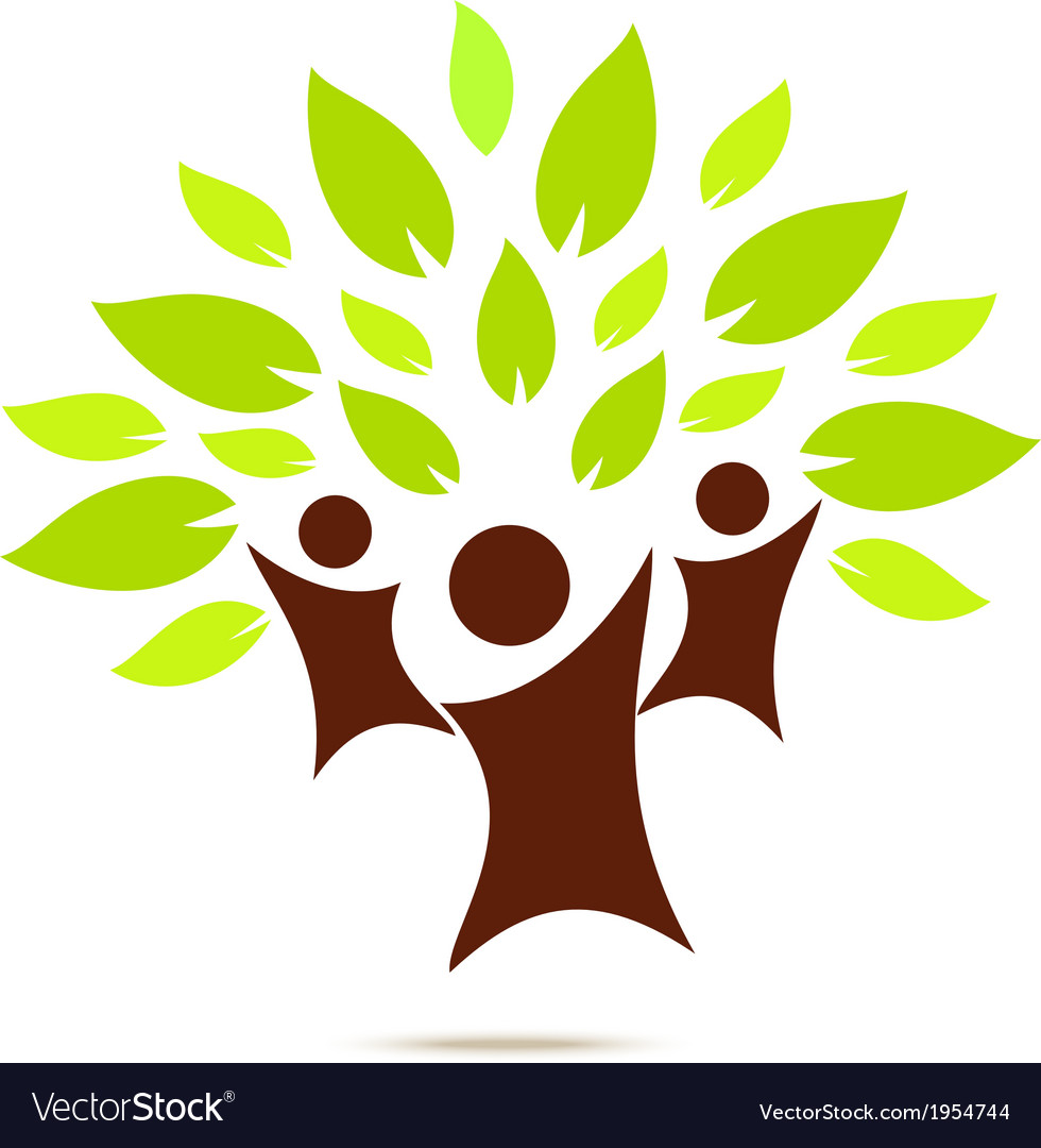 Green family for eco concept vector | Price: 1 Credit (USD $1)