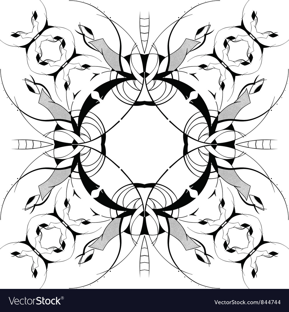 Ornamental square border vector | Price: 1 Credit (USD $1)