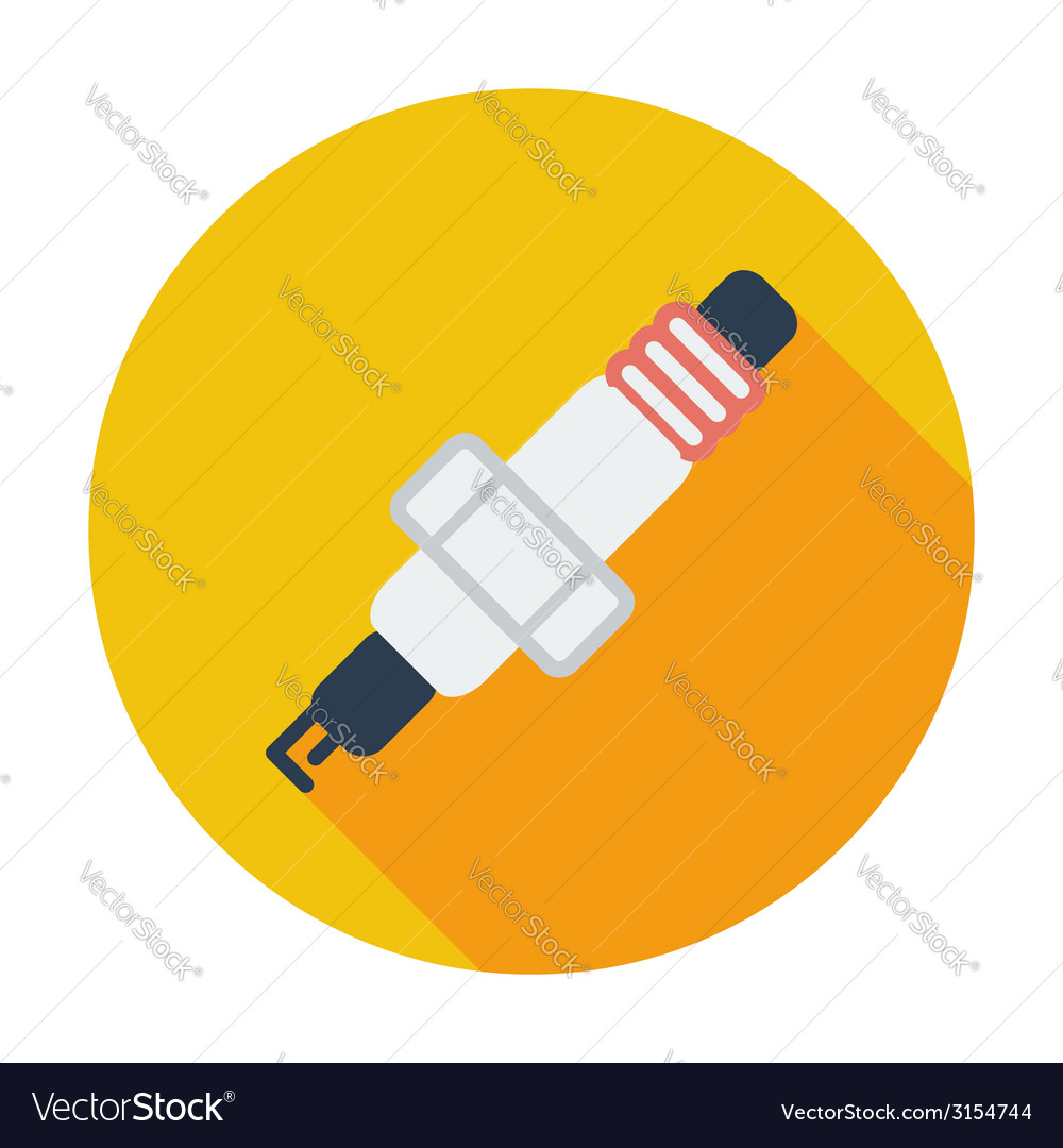 Sparkplug single icon vector | Price: 1 Credit (USD $1)