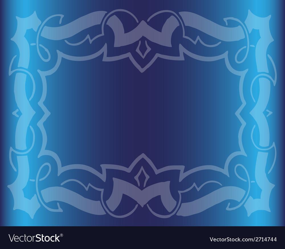 Vintage royal background dark blue floral luxury o vector | Price: 1 Credit (USD $1)
