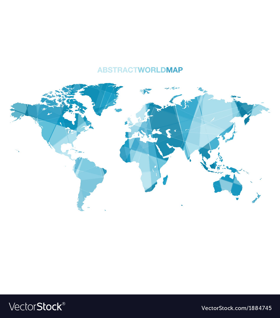Abstract world map vector   Price: 1 Credit (USD $1)