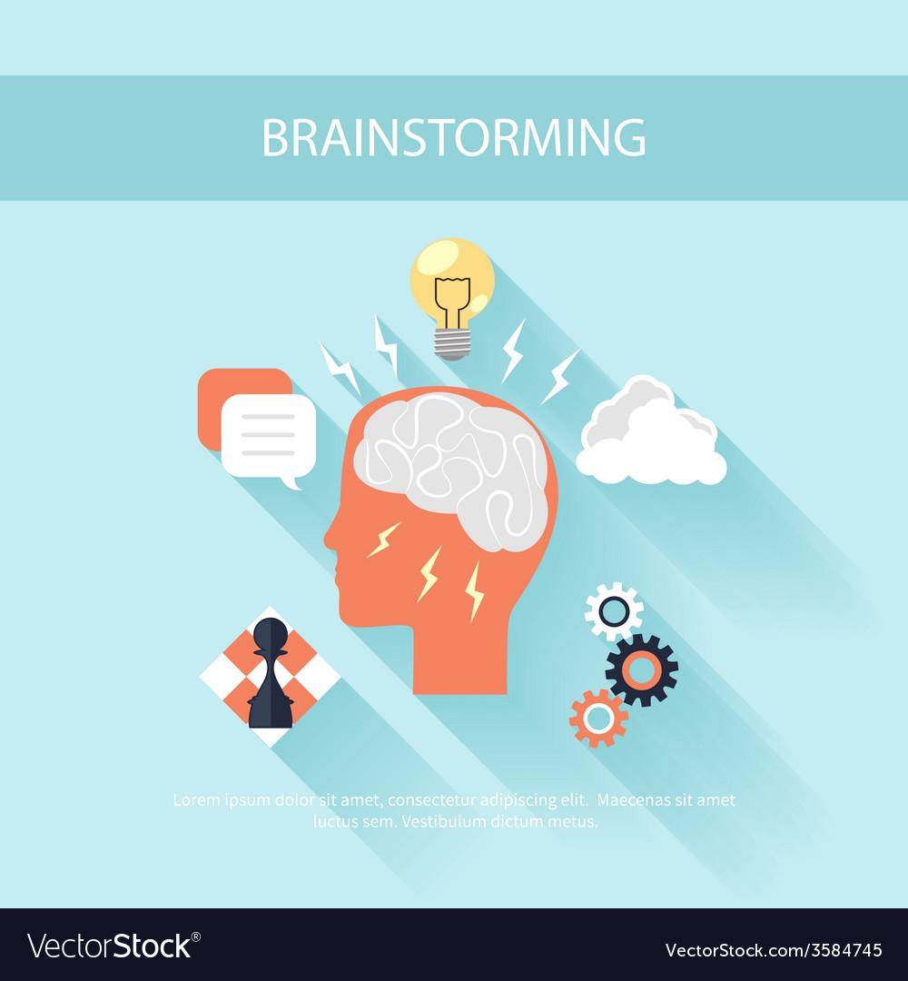 Brainstorm process concept in flat design vector | Price: 1 Credit (USD $1)