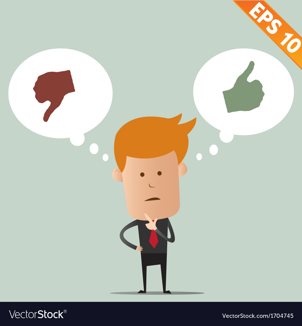 Business man thinking of choice - - eps10 vector | Price: 1 Credit (USD $1)
