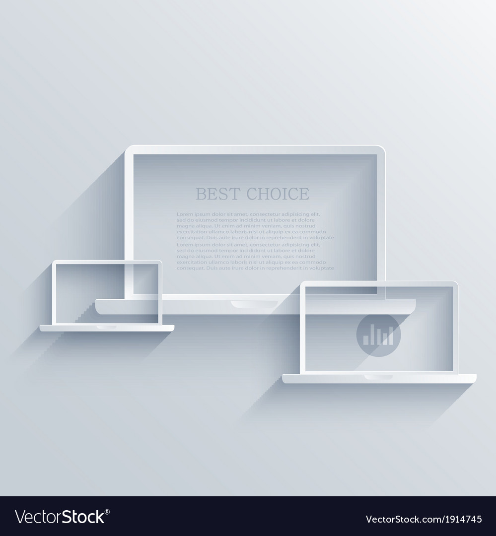 Creative flat laptop background eps 10 vector | Price: 1 Credit (USD $1)