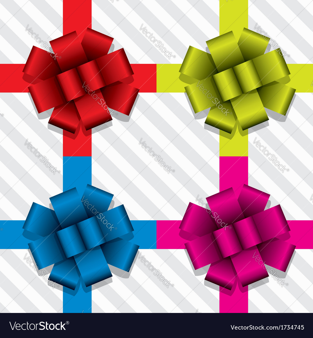Gift ribbons with bows vector | Price: 1 Credit (USD $1)