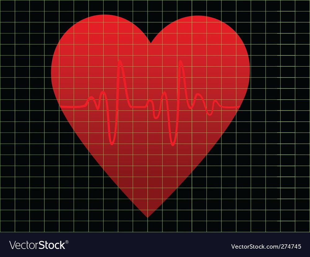 Heart beat vector | Price: 1 Credit (USD $1)