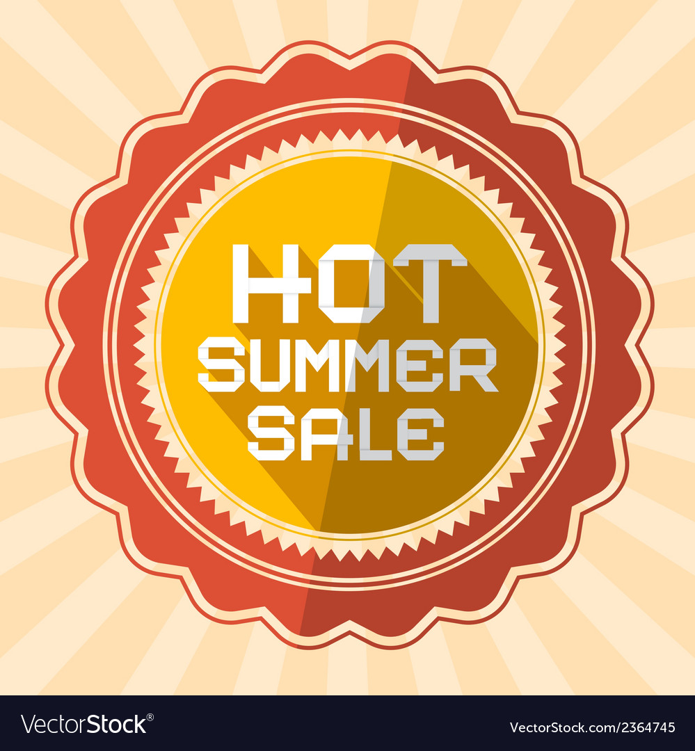 Hot summer sale retro vector | Price: 1 Credit (USD $1)