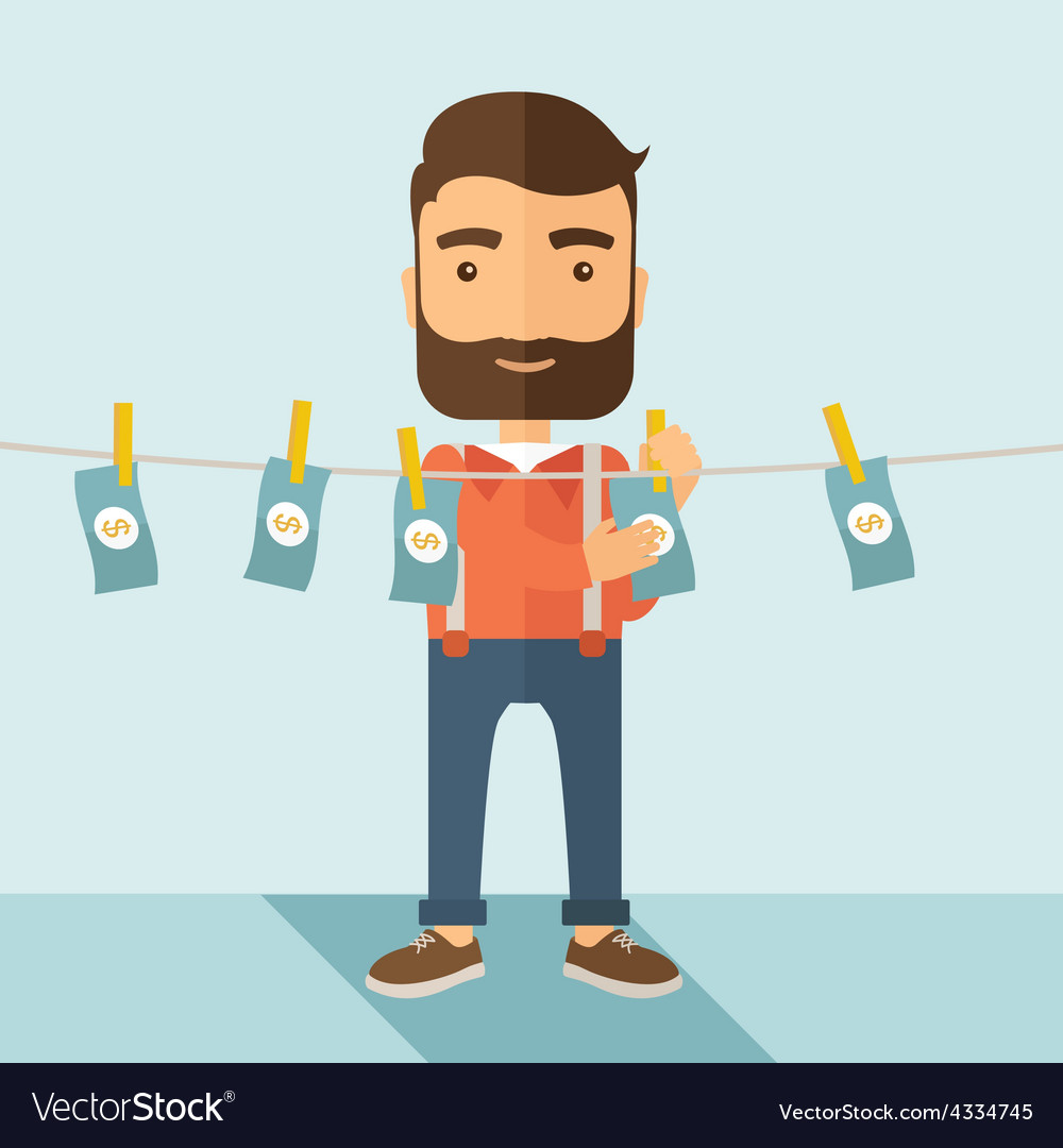Man in money laundering business vector | Price: 1 Credit (USD $1)