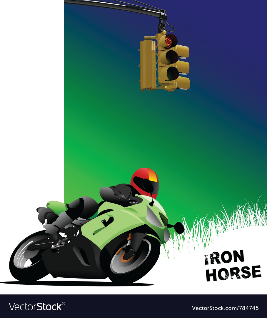 Motorbike poster vector | Price: 1 Credit (USD $1)