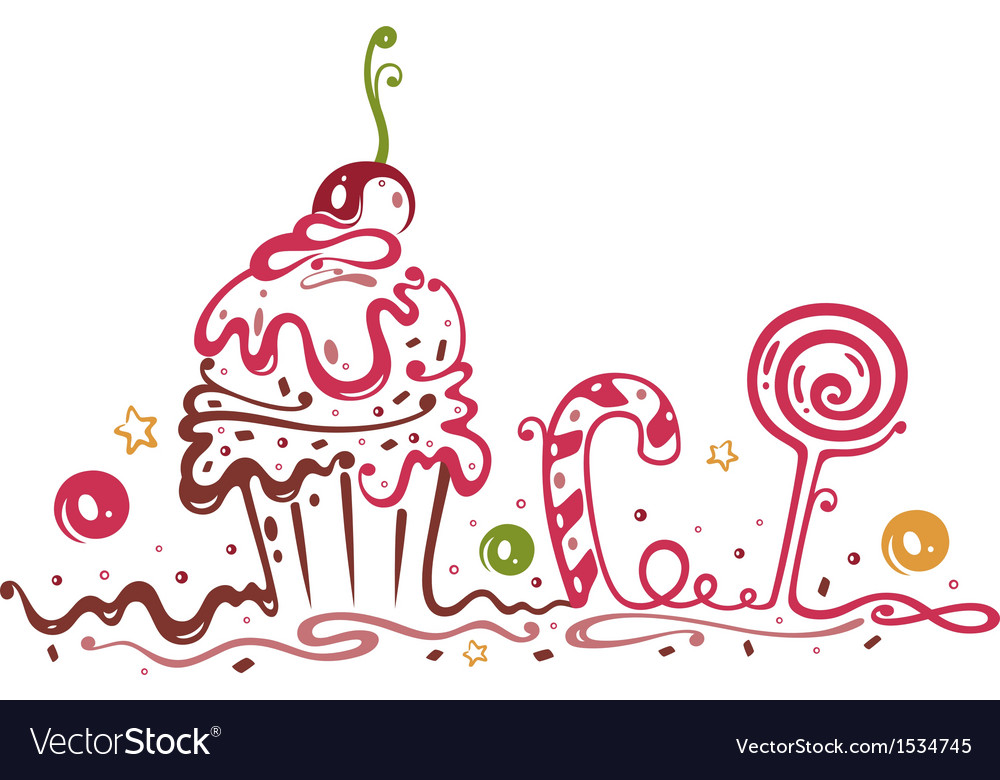Muffin cake sweets candy vector | Price: 1 Credit (USD $1)