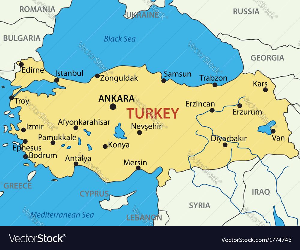 Republic of turkey - map vector | Price: 1 Credit (USD $1)
