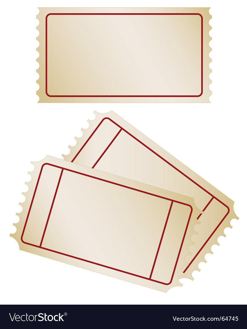 Set of old paper tickets vector | Price: 1 Credit (USD $1)