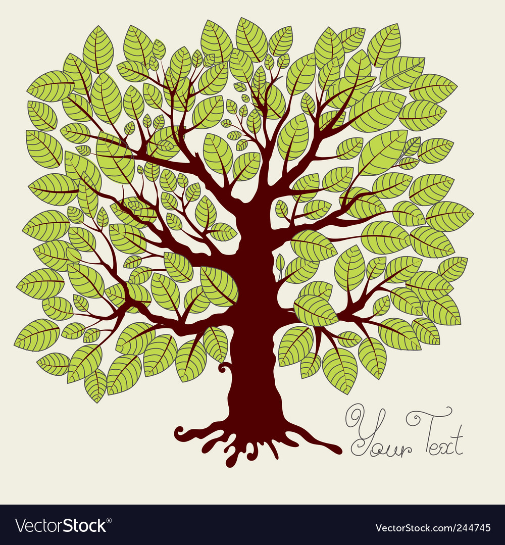Spring tree with foliage vector | Price: 1 Credit (USD $1)